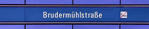Stationsschild Brudermühlstraße