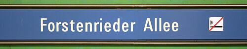 Stationsschild Forstenrieder Allee