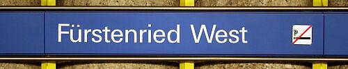Stationsschild Fürstenried West
