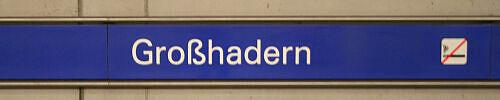 Stationsschild Großhadern