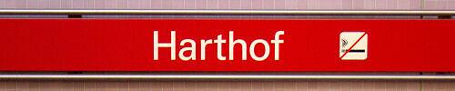 Stationsschild Harthof