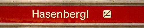 Stationsschild Hasenbergl