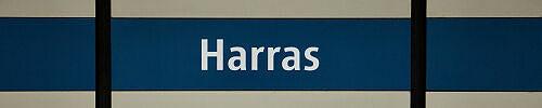Stationsschild Harras