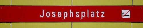 Stationsschild Josephsplatz