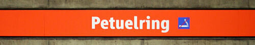 Stationsschild Petuelring