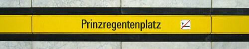 Stationsschild Prinzregentenplatz