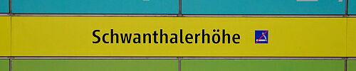 Stationsschild Schwanthalerhöhe