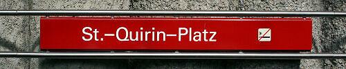 Stationsschild St.-Quirin-Platz