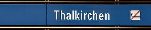 Stationsschild Thalkirchen