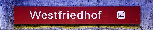 Stationsschild Westfriedhof