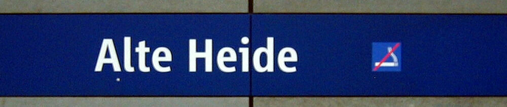 Stationsschild Alte Heide