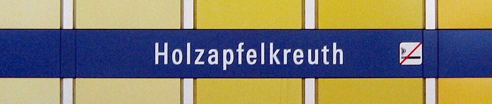 Stationsschild Holzapfelkreuth