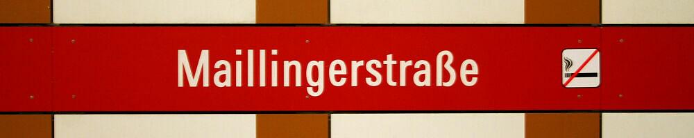 Stationsschild Maillingerstraße
