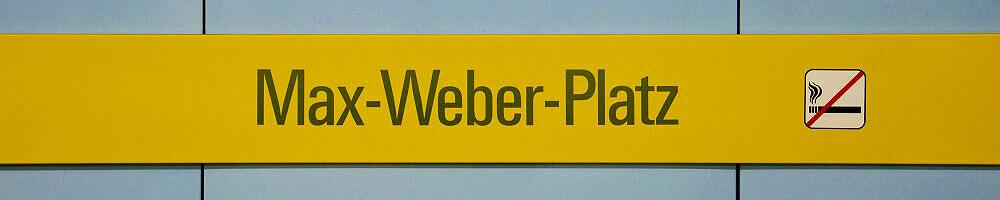 Stationsschild Max-Weber-Platz