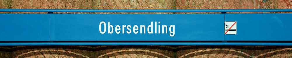 Stationsschild Obersendling