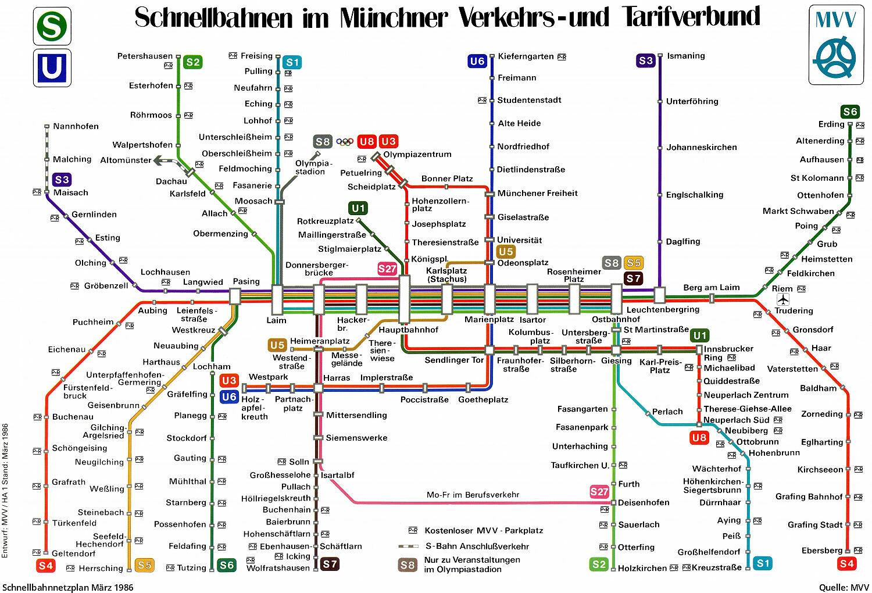 Pläne Des Mvv Schnellbahnnetzes Von 1972 Bis Heute U Bahn