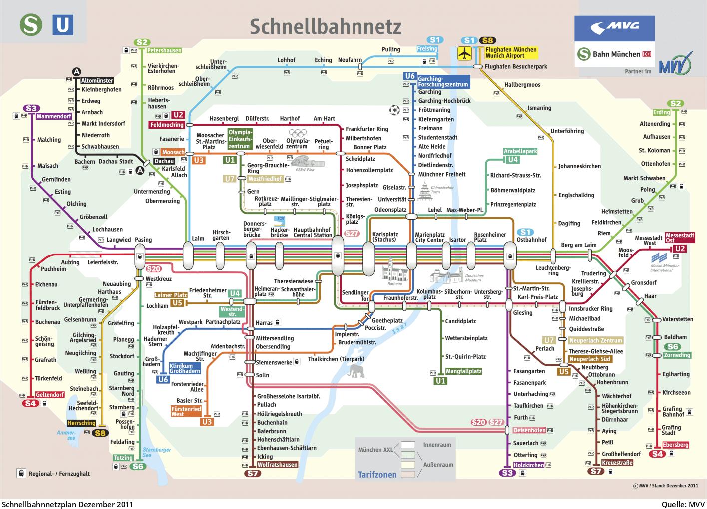 U Bahn M 252 Nchen Schnellbahnnetz Von 1972 Bis Heute