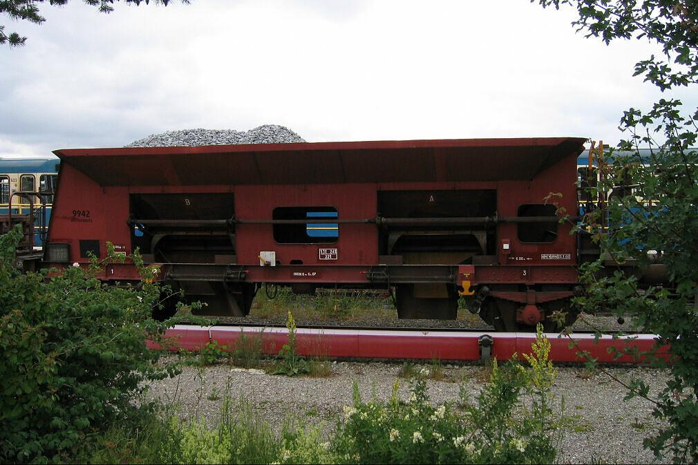 Schotterwagen 9942 im Betriebshof Nord