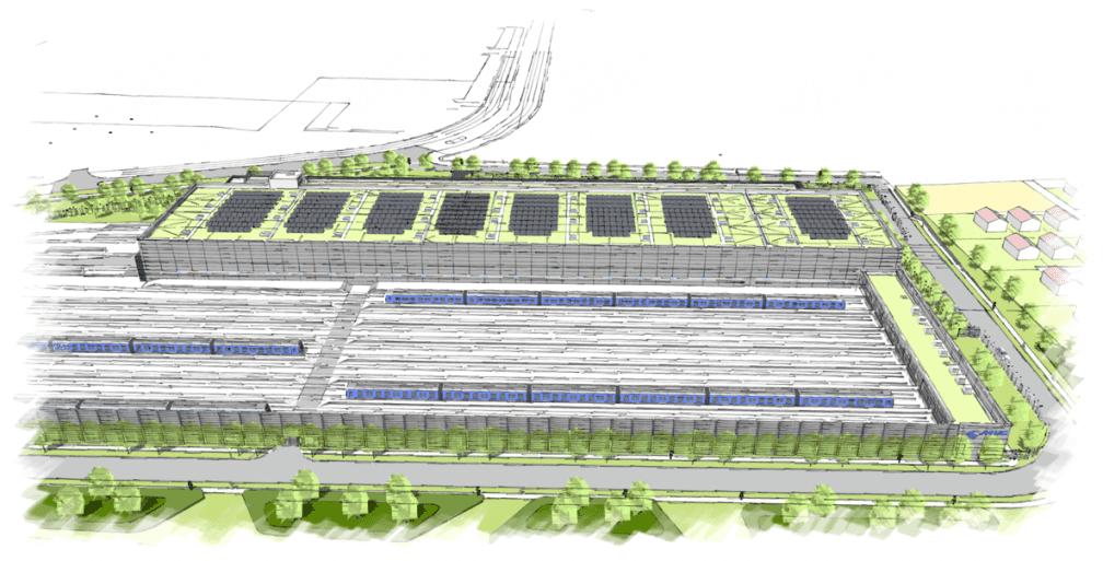 Visualisierung des Betriebshofs Süd