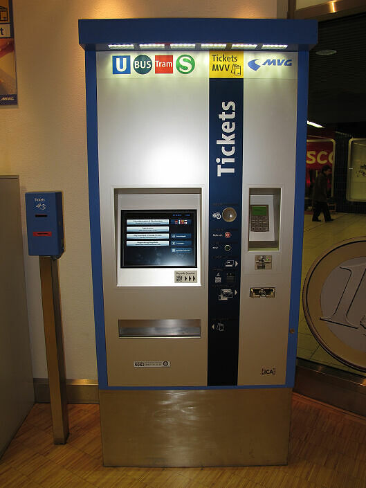 Neuer Fahrkartenautomat der MVG