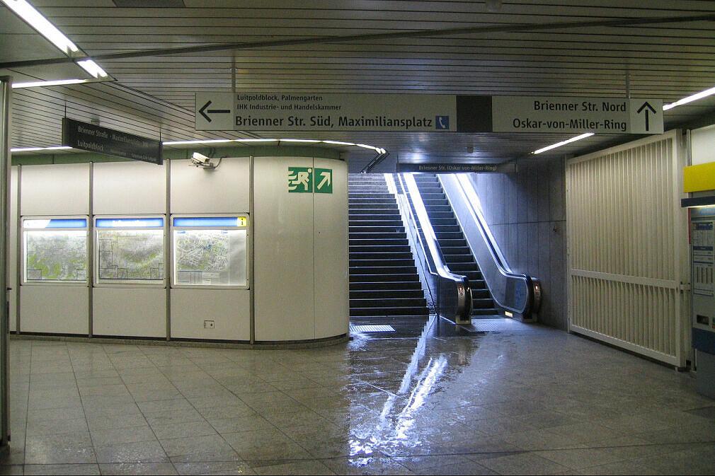 Leitsystem Odeonsplatz - Sperrengeschoß Brienner Straße