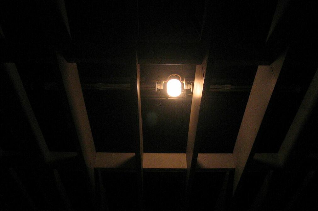 Glühbirne der Notbeleuchtung Olympiazentrum