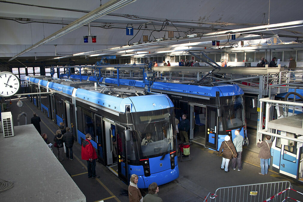 Tram-Betriebshof in der Einsteinstraße
