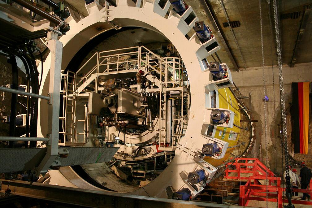 Schildvortriebsmaschine in Moosach