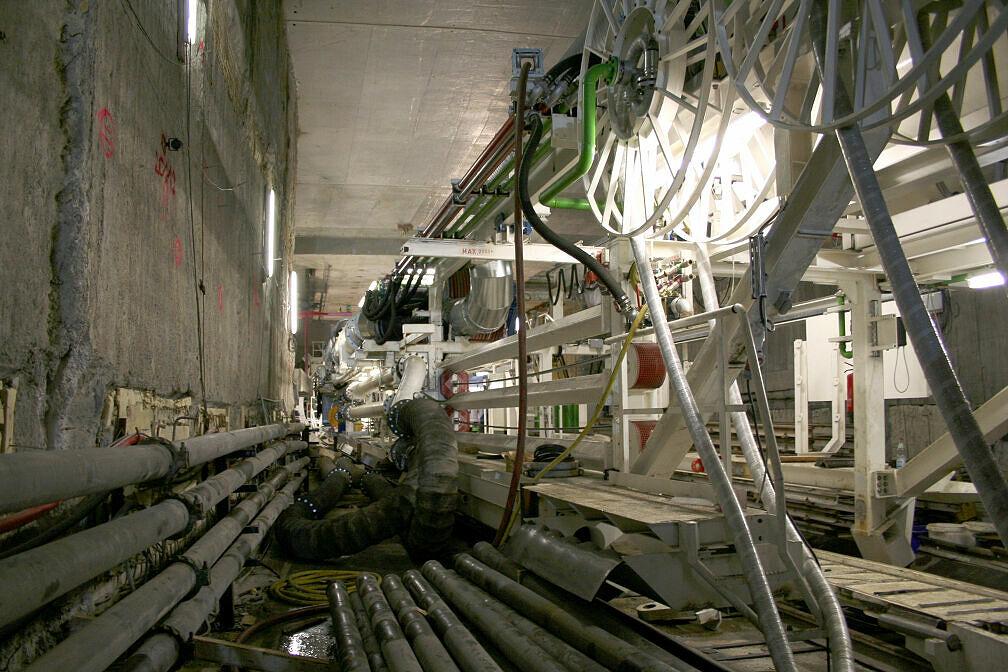 Teile der Schildvortriebsmaschine in Moosach