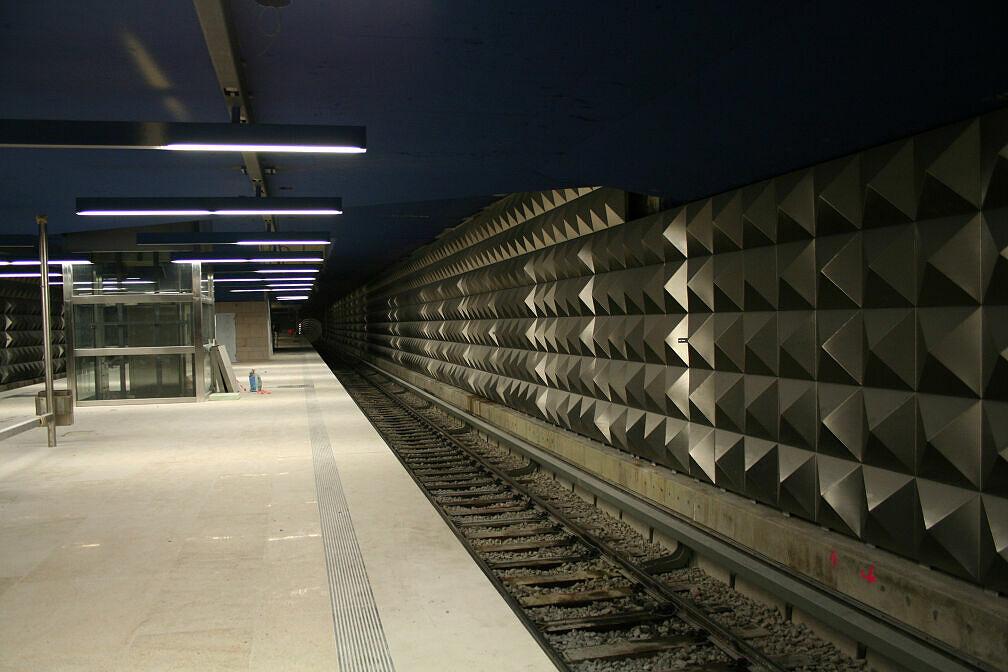 U-Bahnhof Olympia-Einkaufszentrum (U3) im Bau