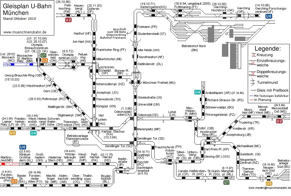 Karte München S Bahn Netz.Gleisplan Und Netz U Bahn München